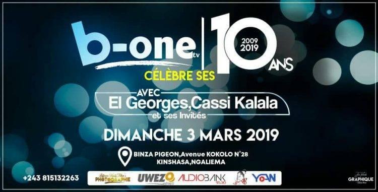 B-ONE TÉLÉVISION FÊTE SES 10 ANS D'EXISTENCE