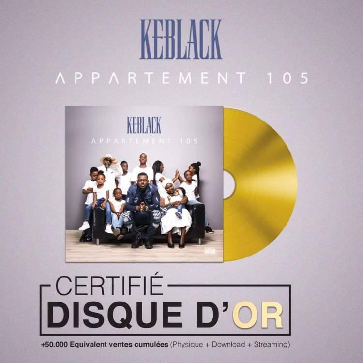 Appartement 105, l'album de KeBlack est certifié disque d'or !