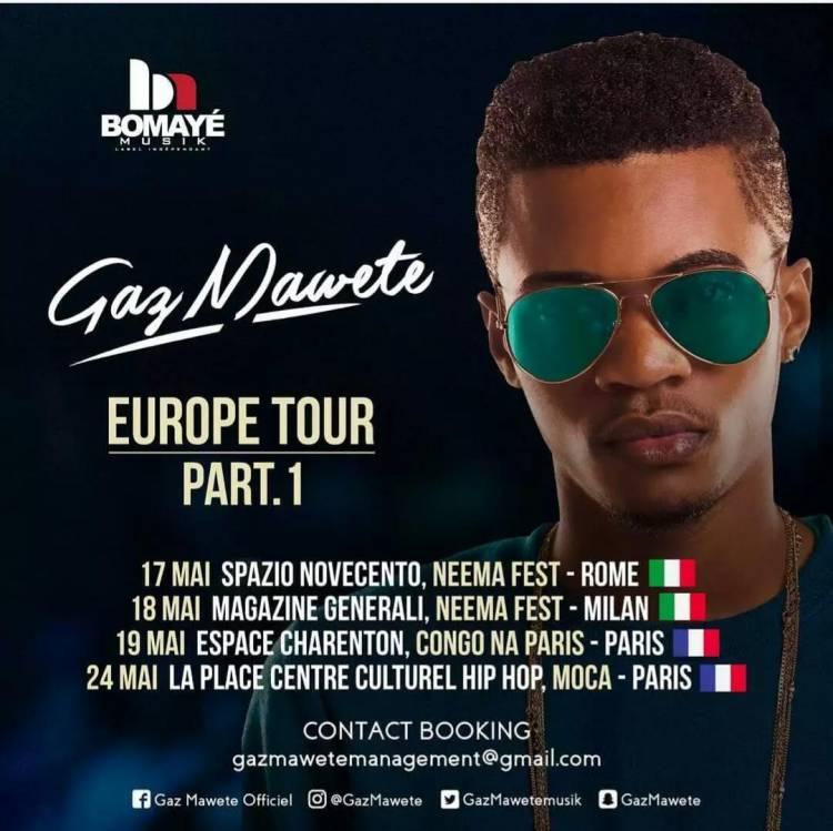 Gaz Mawete Europe Tour Part 1: 2 Pays, 4 dates !