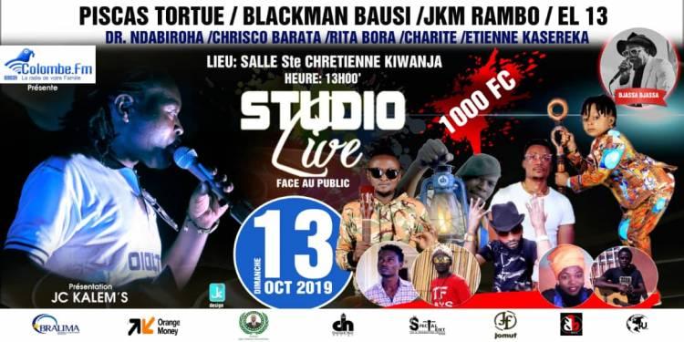 Après Goma et Gisenyi, JC Kalem's présente Studio Live en live à Kiwanja !