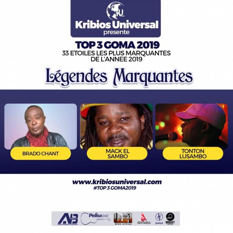 33 Étoiles les plus marquantes de l'année 2019 à Goma: Légendes