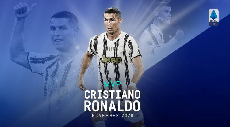 Cristiano Ronaldo élu joueur du mois de novembre 2020 en Italie
