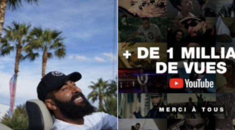 La Fouine a franchi la barre d'1 Milliards des vues sur YouTube