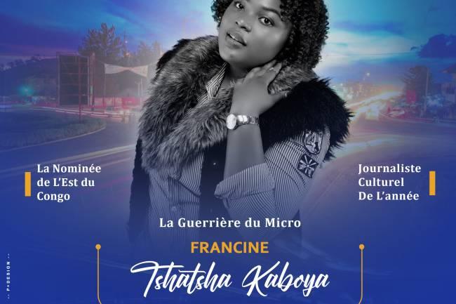 La chroniqueuse Gomatracienne Francine Kaboya Tshatsha nominée au prix Lokumu
