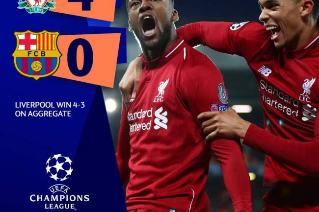 Champions League : Incroyable mais vrai, Liverpool en finale !
