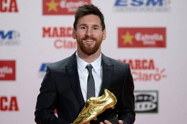 La légende du FC Barcelone, Lionel Messi remporte son sixième Soulier d'or