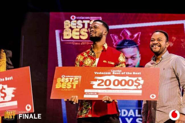 L'artiste congolais Abdallah Jeysix a remporté l'édition 2019 de Vodacom Best Of the Best Class