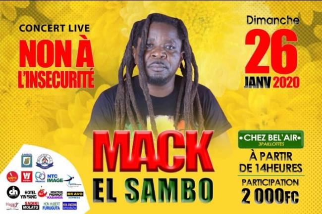 Mack El Sambo fête un double événement à Goma en disant non à l'insécurité !