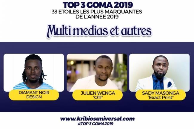 33 Étoiles les plus marquantes de l'année 2019 à Goma: Multimédias et Autres Services