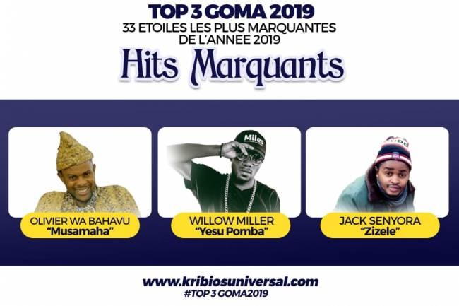 33 Étoiles les plus marquantes de l'année 2019 à Goma : Hits