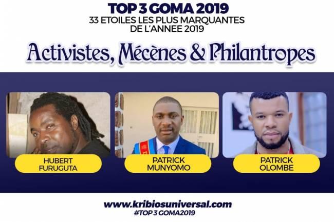 33 Étoiles les plus marquantes de l'année 2019 à Goma: Activistes, Mécènes et Philantropes