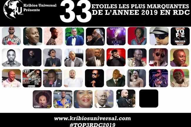 33 Étoiles les plus marquantes de l'année 2019 en RDC