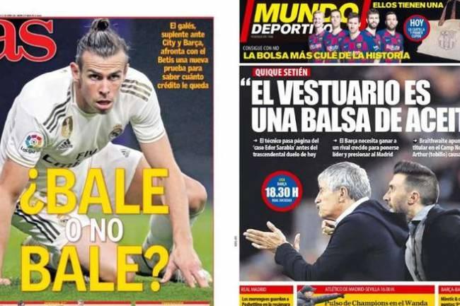 Les Unes des journaux sportifs en Espagne du 07 mars 2020