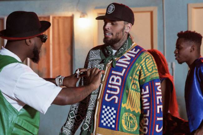La surprise qu'a fait Chris Brown à Davido à Los Angeles