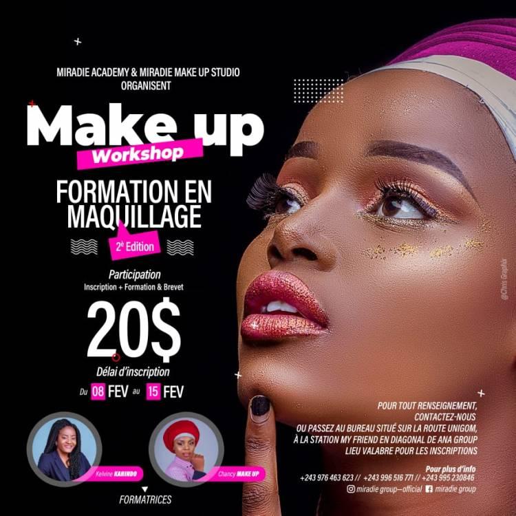 Make Up Workshop: Miradie Group ouvre ses portes pour une nouvelle formation en maquillage à Goma