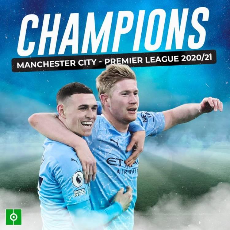 À trois journées de la fin de la saison 2020-21, Manchester City déclaré Champion de Premier League !