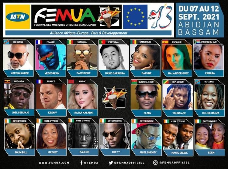 FEMUA 2021 : 20 artistes de renommée participent à cet événement y compris Koffi Olomidé et Céline Banza