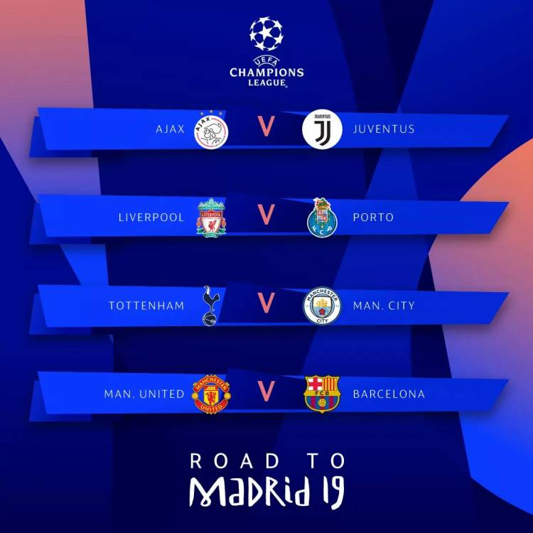 Champions League: Voici les affiches des quarts des finales