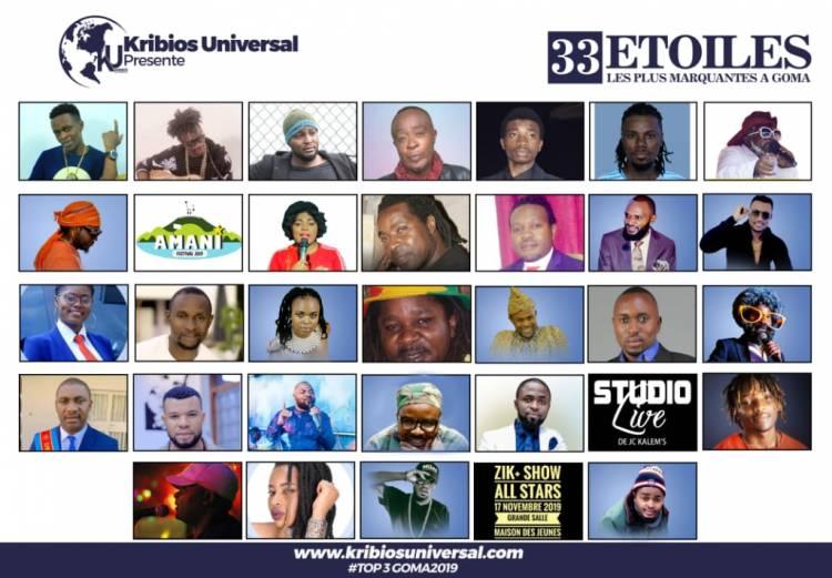 33 Étoiles les plus marquantes de l'année 2019 à Goma