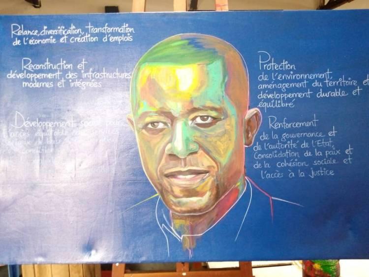 L'artiste Justin Kasereka revisite le contrat social du gouverneur Carly Kasivita et la population du Nord-kivu au travers une toile