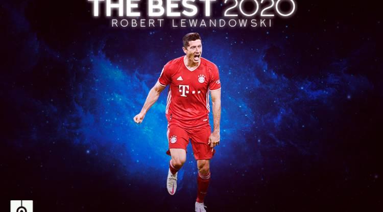 Robert Lewandowski remporte le prix The Best 2020 !