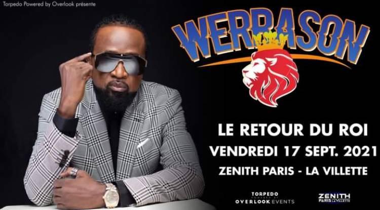 Werrason repousse la date prévue pour son Zénith de Paris !