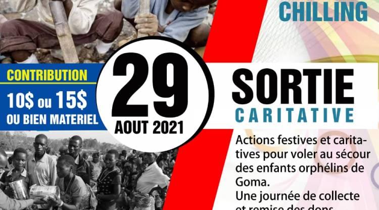 """Journée mains secourables avec les jeunes du club """"Une vie en famille"""" à Goma"""