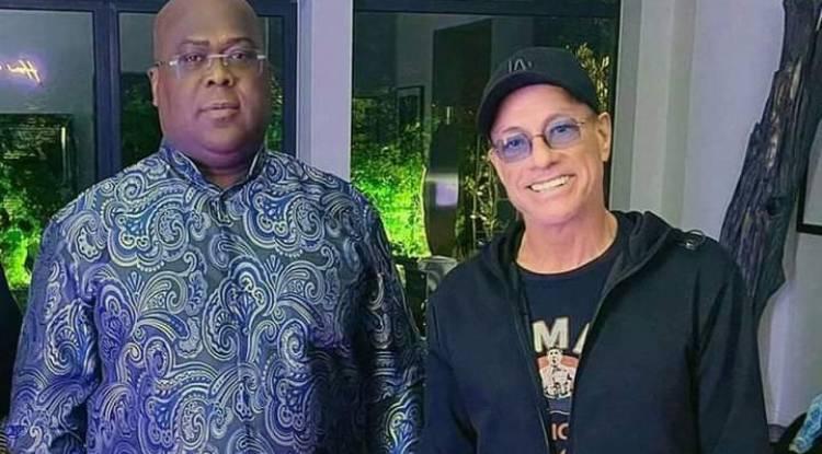 Van Damme au Congo :  Que fait-il à Kinshasa aux côtés du Président Tshisekedi ?