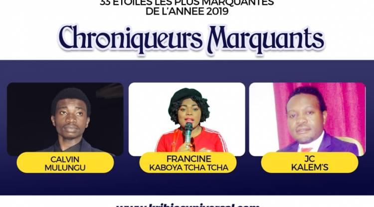 33 Étoiles les plus marquantes de l'année 2019 à Goma: Chroniqueurs