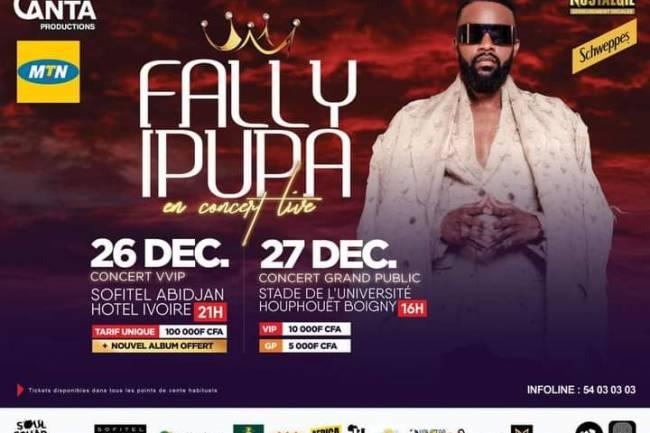 Fally Ipupa en double concert Live à Abidjan !