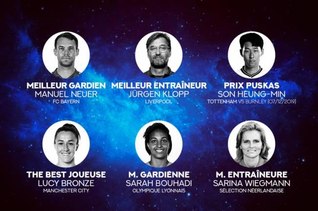 Prix The Best 2020: Voici les 11 lauréats !
