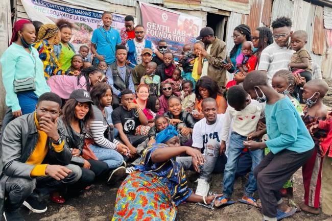 L'homme au cœur immense, Gentil Jab au travers sa fondation, vole au secours des enfants démunis à Goma