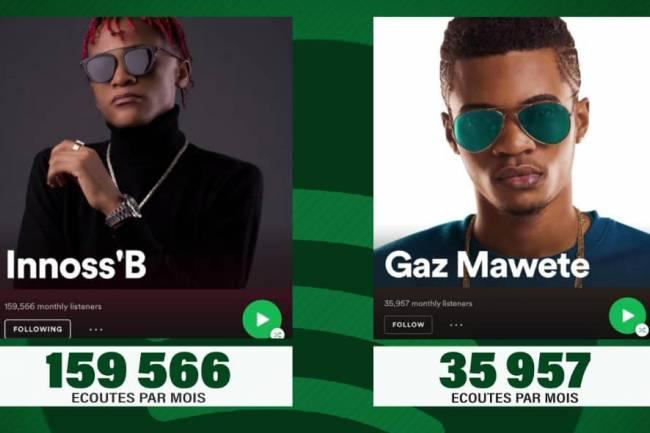 Les chiffres de Spotify d'Innoss'B contre ceux de Gaz Mawete enflent la toile !