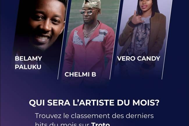 """Belamy Paluku, Chelmi B et Vero Candy en course pour le prix de """"l'artiste le plus acheté du mois de juillet"""" sur Troto"""