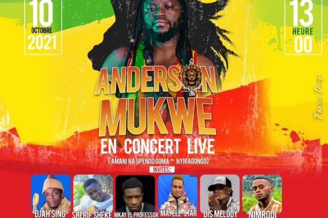 Reggae Inspiration Show : Anderson Mukwe et 6 autres artistes pour un show au nom de la paix et la cohabitation pacifique !