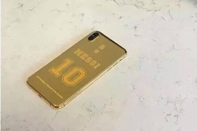 Leo Messi s'offre un iPhone XS MAX en or de 24 carats et personnalisé