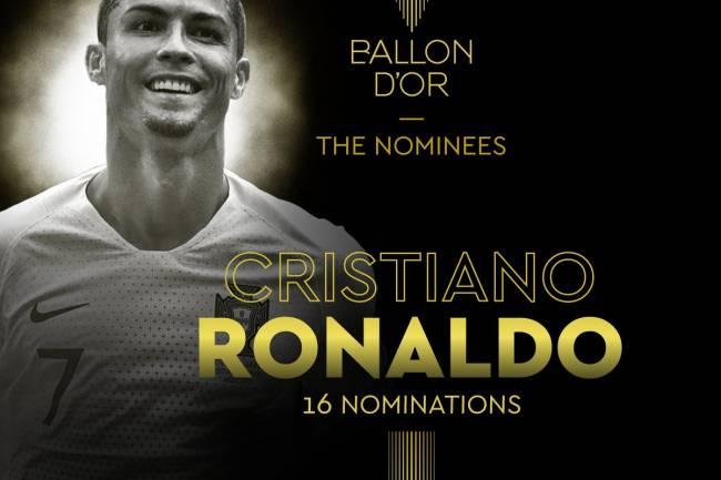 Cristiano Ronaldo: le plus nominé de l'histoire du Ballon d'Or