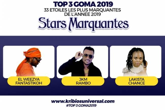 33 Étoiles les plus marquantes de l'année 2019 à Goma: Stars marquantes